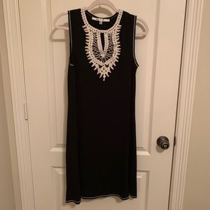 Max Studio Black Dress w/Crochet Neckline Size M